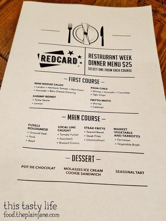 San Diego Restaurant Week Menu at Red Card Cafe | San Diego, CA