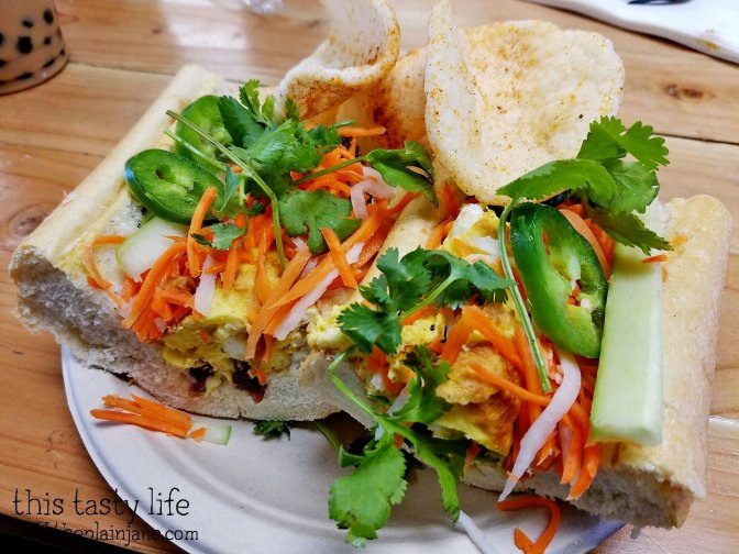 Breakfast Banh Mi Sandwich at Baguette Bros | San Diego, CA | This Tasty Life