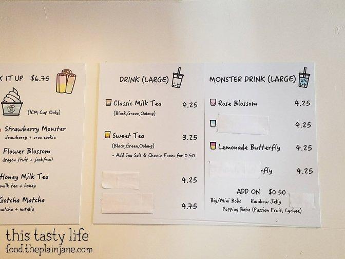 Drink Menu at ICMonster - Mira Mesa - San Diego, CA | This Tasty Life