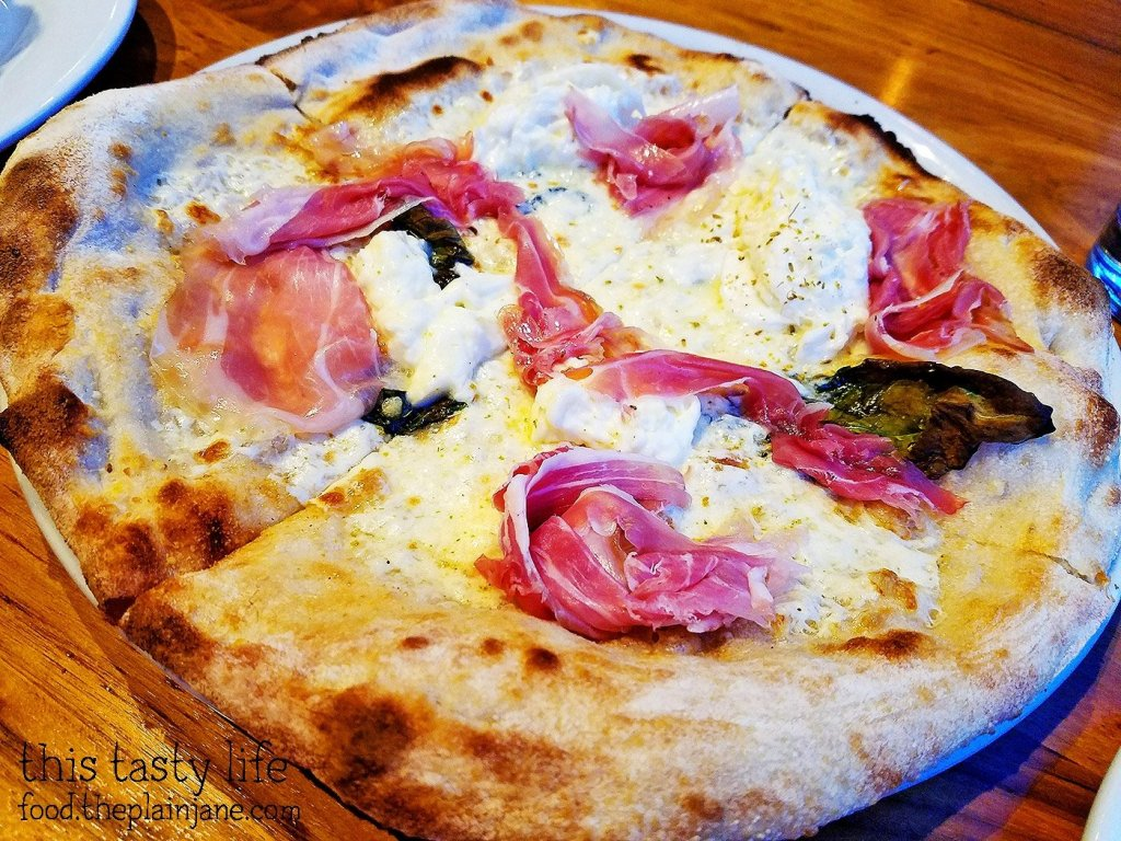 Burrata Pizza at Biga San Diego