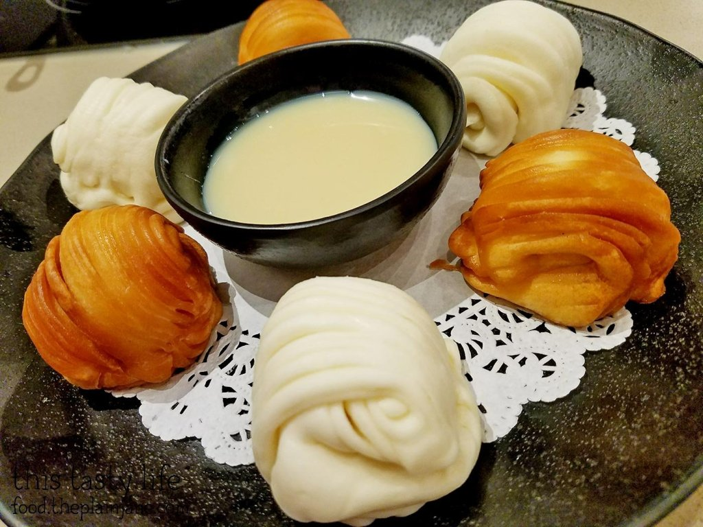 Steamed and Fried Dough at Little Sheep Mongolian Hot Pot