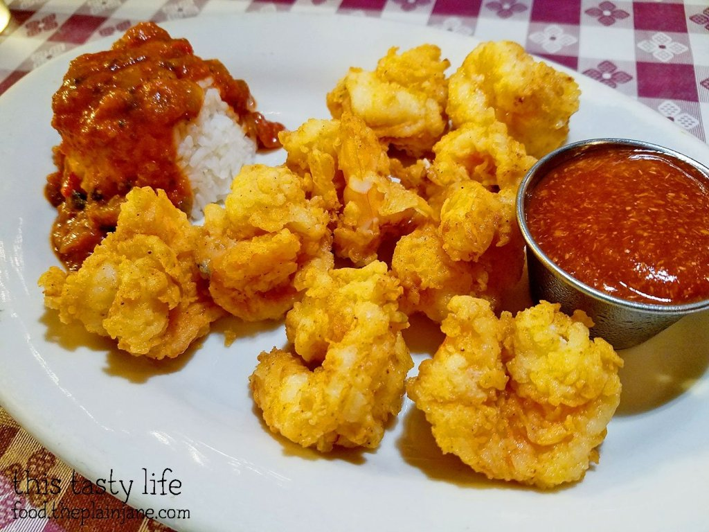 Fried Shrimp with Creole Rice - New Orleans Creole Cafe - San Diego, CA