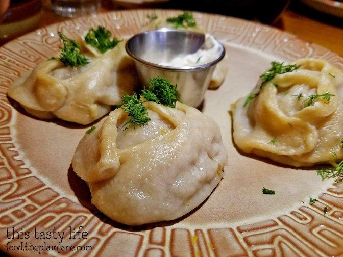 Manty Pumpkin Dumplings - Kafe Sobaka Restoran Pomegranate - San Diego, CA