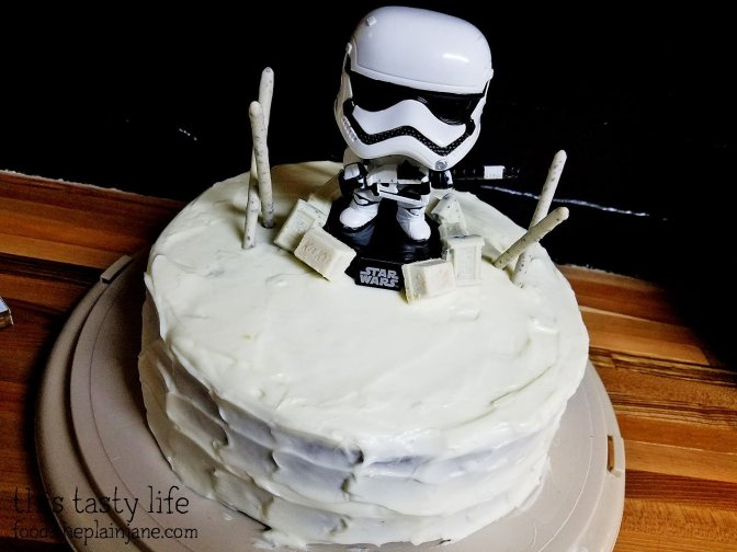 Stormtrooper Carrot Cake with Cream Cheese Frosting