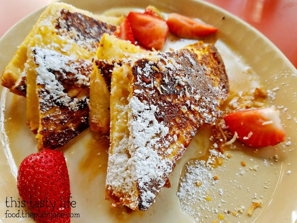 OMG French Toast at Snooze AM Eatery in La Jolla, CA