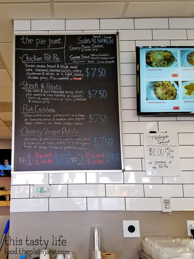 Savory Menu at The Pie Joint - San Diego, CA