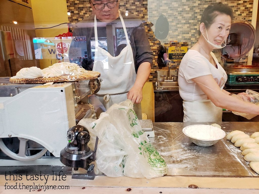 Making fresh noodles at Great Wow - Hillcrest - San Diego, CA
