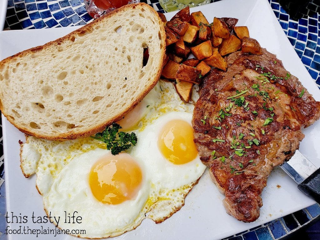Steak and Eggs at The Lazy Hippo - San Diego, CA