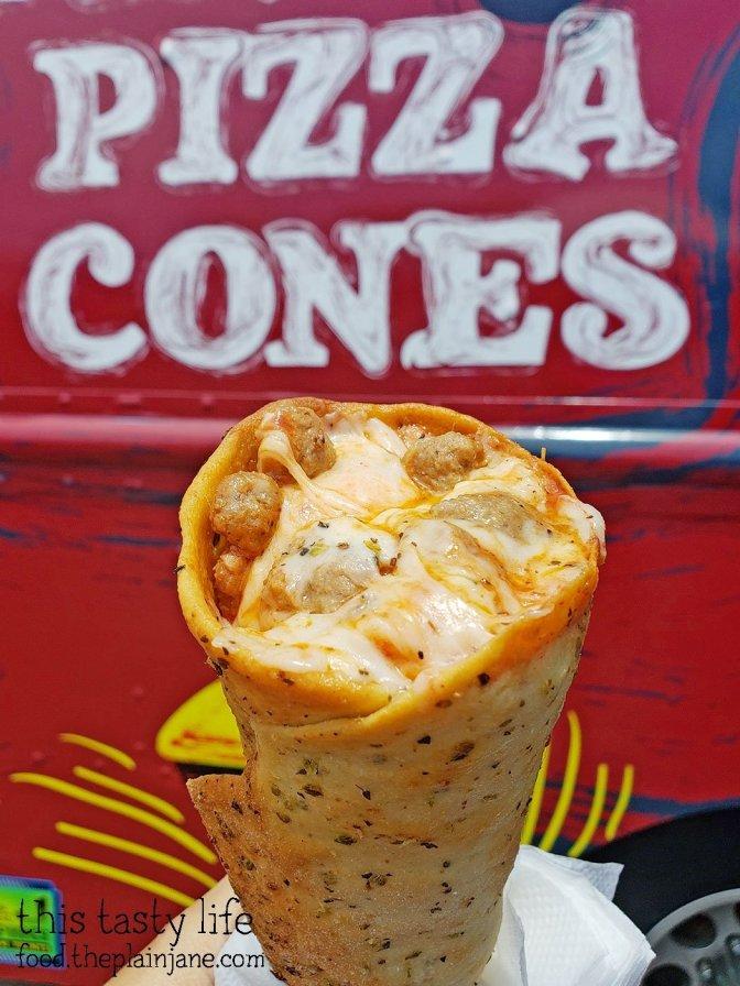 Sausage Pizza Cone at Pinto's Pizza Cones - San Diego, CA