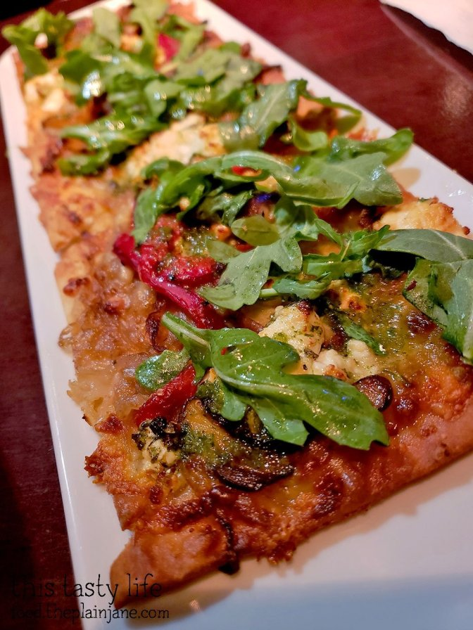 Mushroom and Red Pepper Flatbread at Fleming's Prime Steakhouse - La Jolla, CA