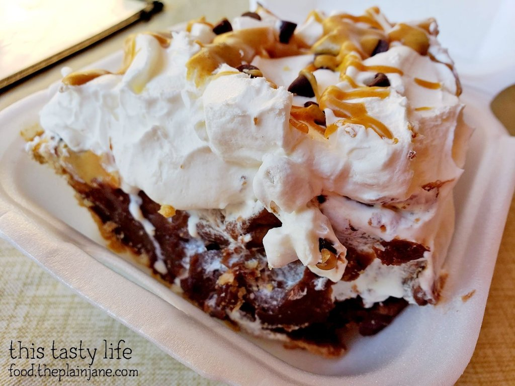 Peanut Butter Chocolate Cream Pie at Janet's Montana Cafe - Alpine, CA