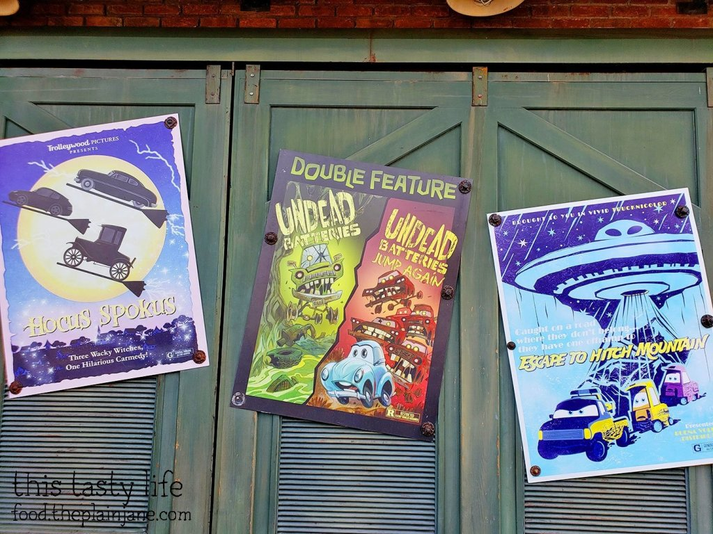 Movie Posters in Cars Land at Disney California Adventure