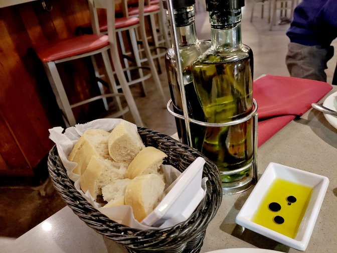 Bread with Olive Oil at Soleluna Cafe - San Diego, CA