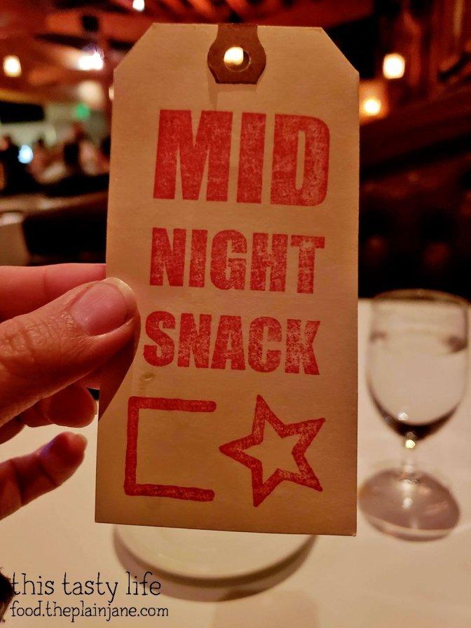 Midnight Snack tag at Cowboy Star - San Diego, CA