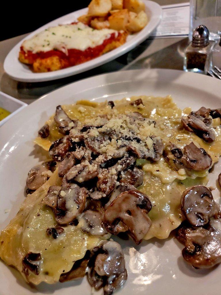 Mushroom Ravioli at Soleluna Cafe - San Diego, CA