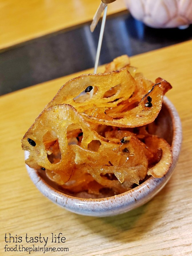 Honey Sesame Lotus Root Chips