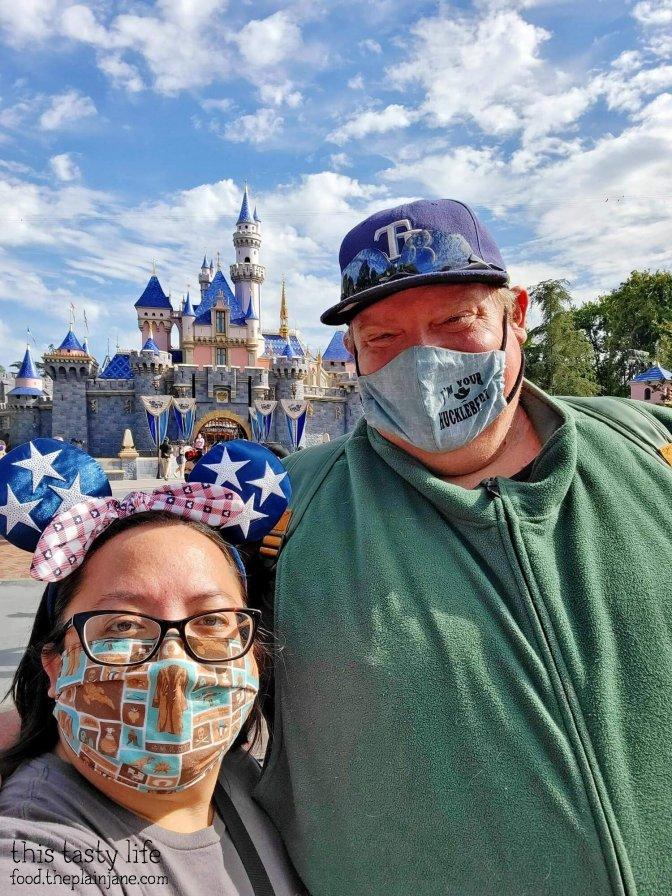 At Sleeping Beauty's Castle in Disneyland