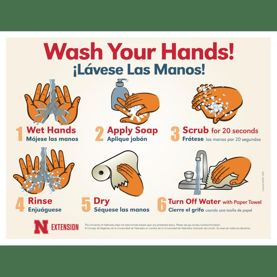 handwashing posters unl food