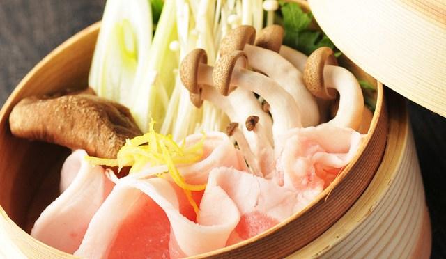 豚と野菜のせいろ蒸し