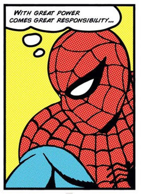 Spiderman thinking