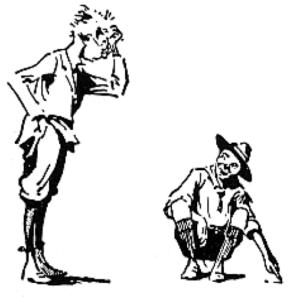 scout designant les traces sur le sol