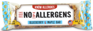 Blueberry & Maple Bar Know Alleriges