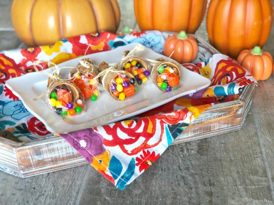 Gluten Free, Dairy Free, Peanut Free, Tree Nut Free Allergy Friendly Ice Cream Cone Cornucopia's are a great kid friendly Thanksgiving holiday treat, snack or dessert