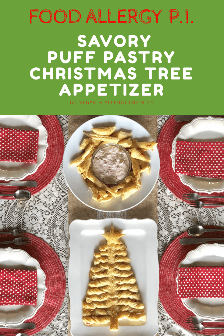 Savory Puff Pastry Christmas Tree Appetizer | Gluten Free, Vegan & Allergy Friendly Variations, Nut Free