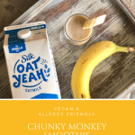 Chunky Monkey Smoothie | Vegan, Nut Free, Oatmilk Dairy Free #ad