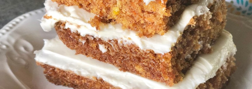 Carrot Cake with Cream Cheese Frosting | Gluten Free, Vegan, Soy and Peanut Free Allergy Friendly