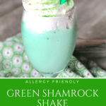 Green Shamrock Shake St. Patty's St. Patrick's Day | Allergy Friendly Gluten Free, Peanut Free, Tree Nut Free, Egg Free