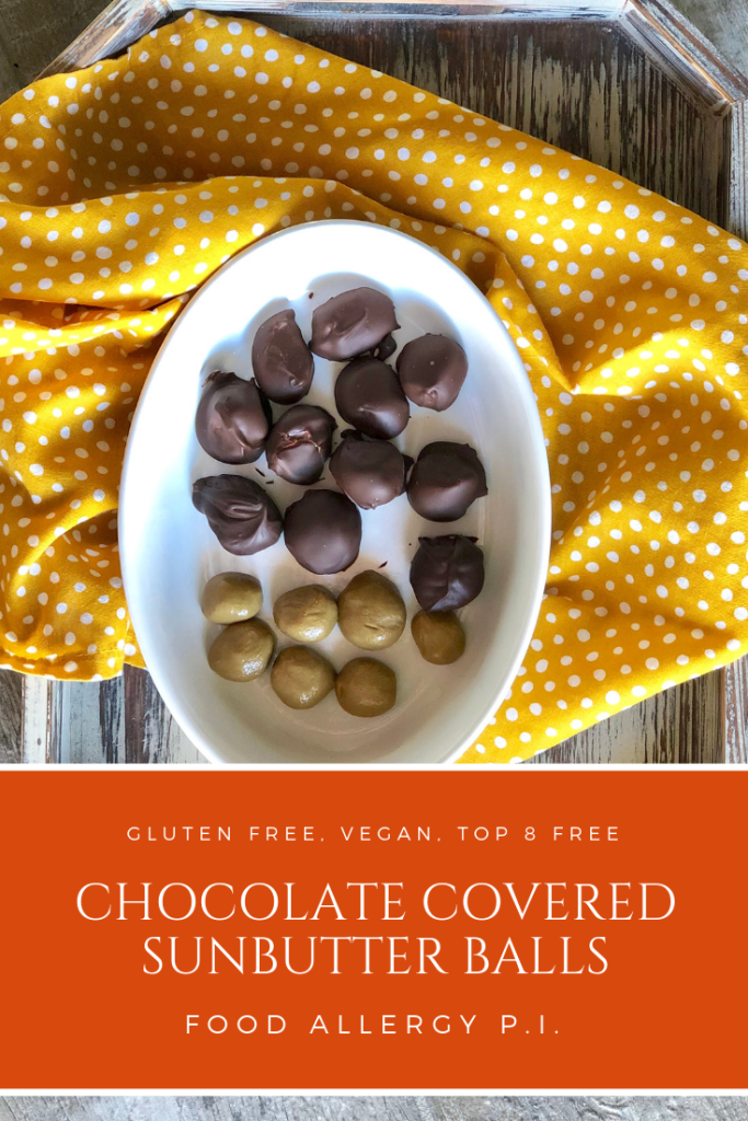 Chocolate Covered SunButter Balls AKA Reese's Cup Knock-Offs | Gluten Free, Vegan, Allergy Friendly Top 8 Free