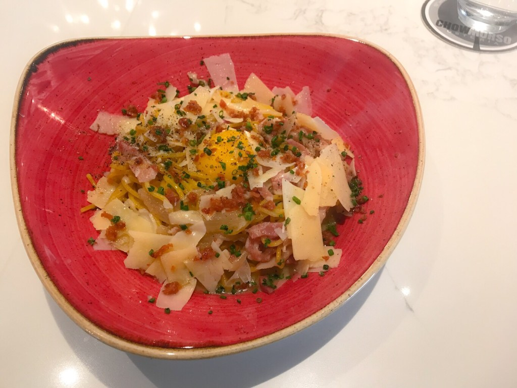 The BEST Carbonara I've ever had is at Chow Morso Osteria in Denver, CO!