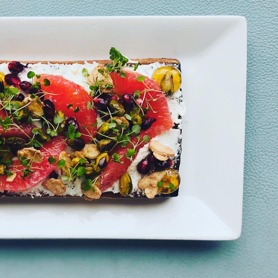 Ricotta Fruit Toast