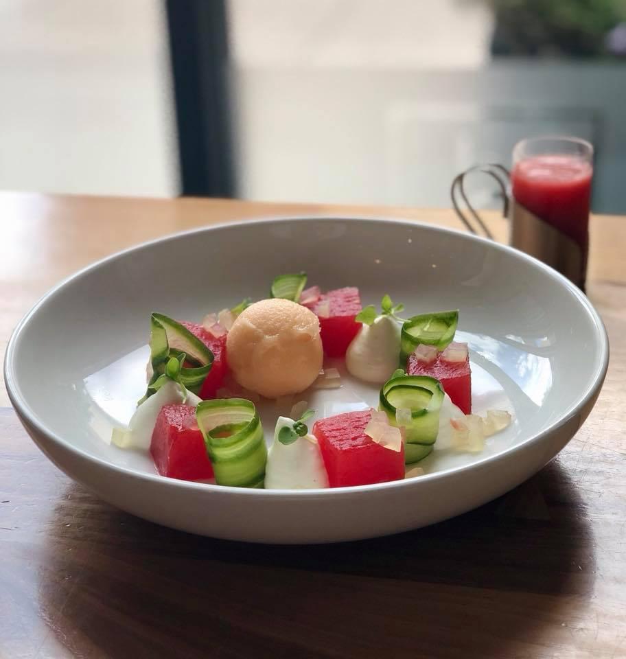 A seasonal summer dessert created at D Bar Denver Restaurant