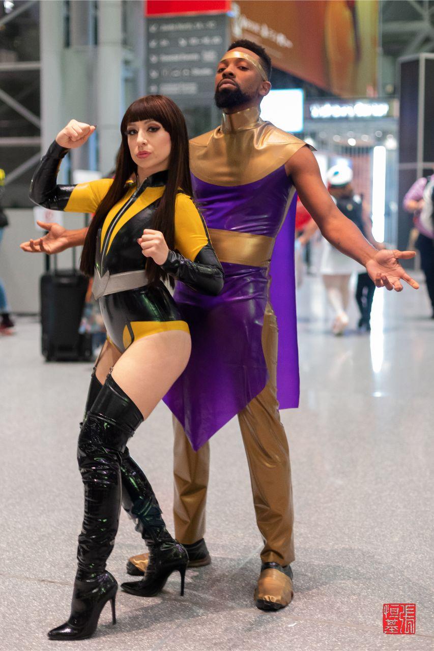 Silk Spectre & Ozymandias / Watchmen by lydiavengeance & hazexfrost