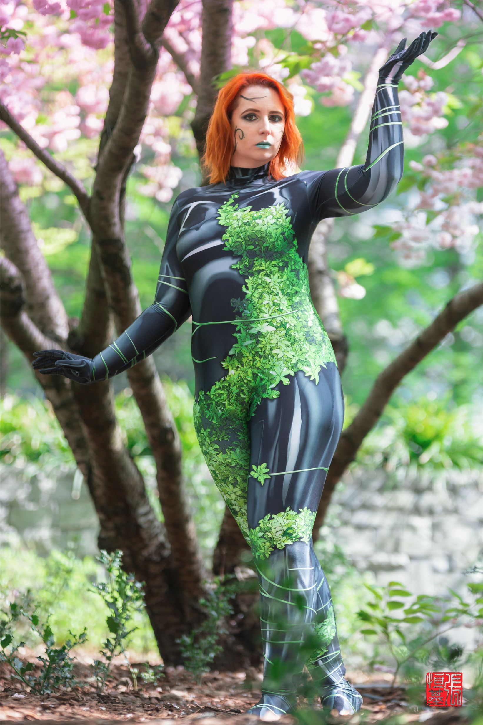 Cherry Blossom Poison Ivy by La Petite Spider