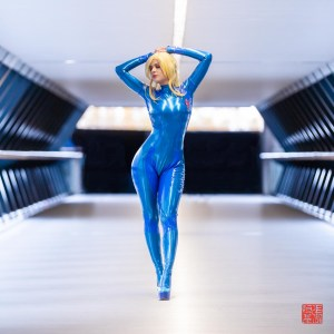 Latex Samus Zero Suit by PurpleMuffinz