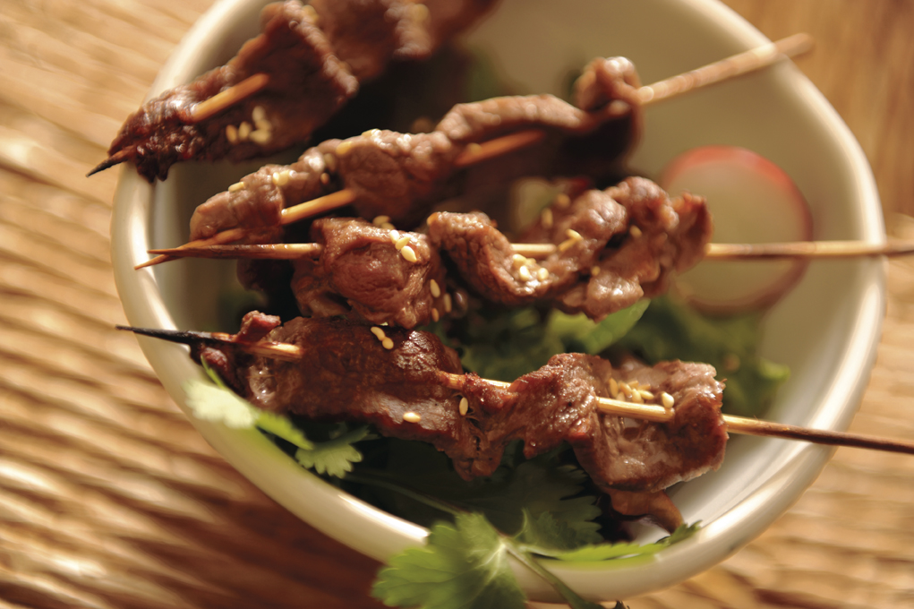 Grilled steak salad with Vietnamese flavors