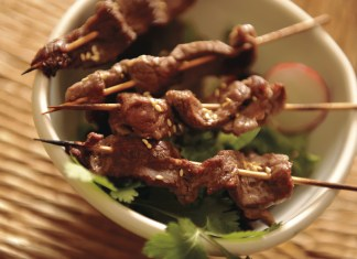 Grilled steak salad with Vietnamese flavors