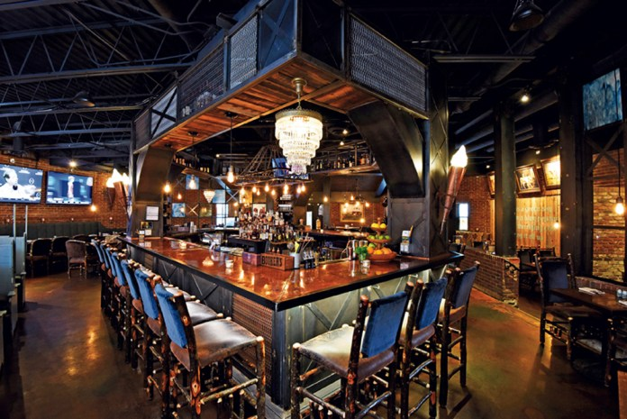 The dramatic and vibrant bar
