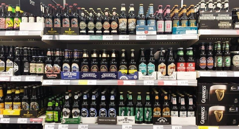 Craft Beers in Aldi stores in UK