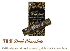 Divine 70% dark chocolate bar