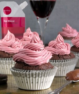 Wine-frosted Oreo wine cupcake