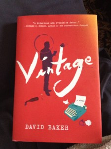 Cover of Vintage, by David Baker - Love the wineglass stains!