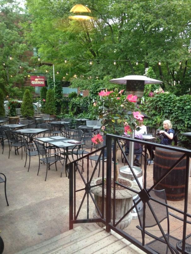 Trattoria Gianni's charming enclosed patio