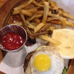 T&B The Spice mini-burger w/truffle fries
