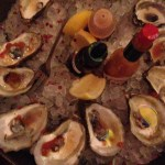 Oyster platter from the new raw bar