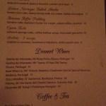 Mason dessert menu