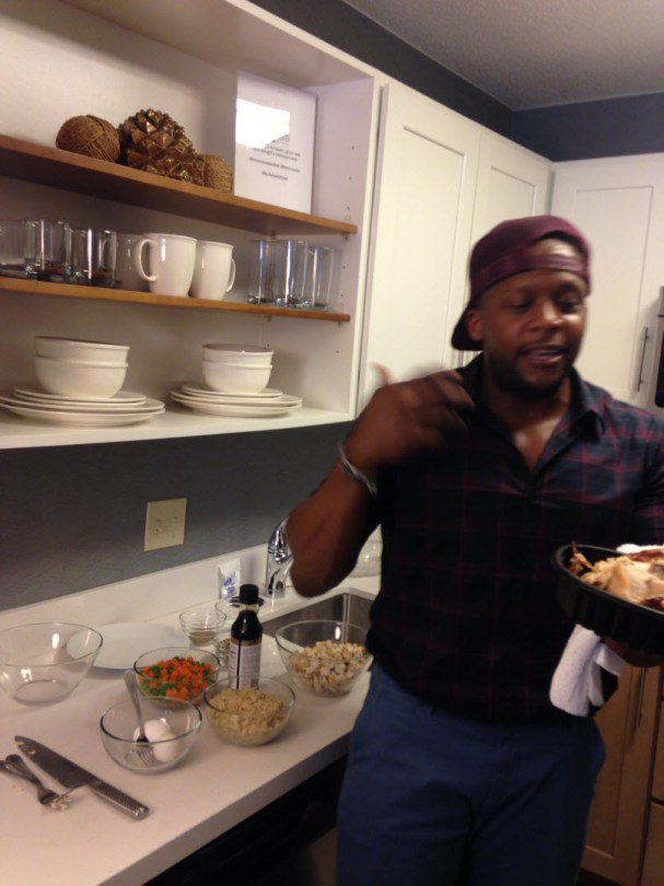 Kevin Curry cooks at Homewood Suites Hilton